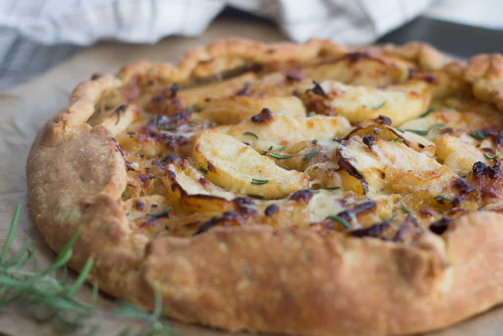 Apple Rosemary Galette