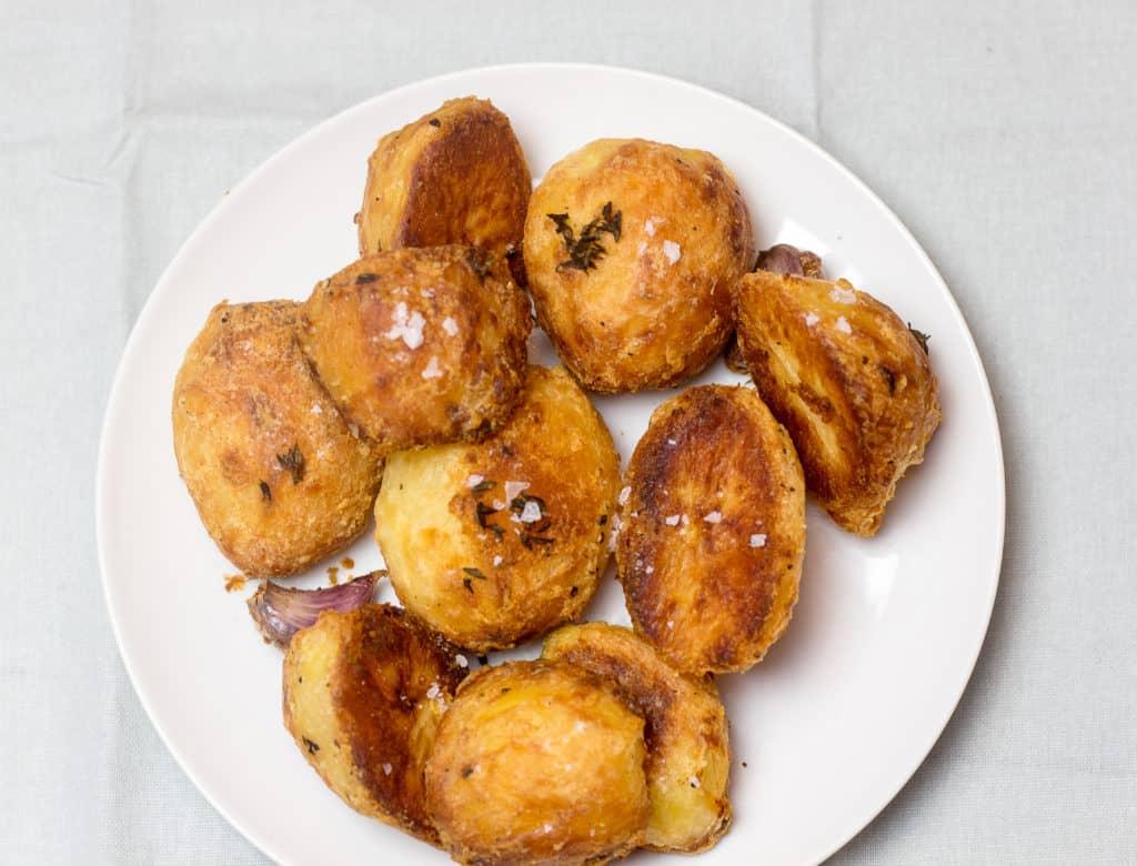 Roasted Rosemary Potatoes on plate
