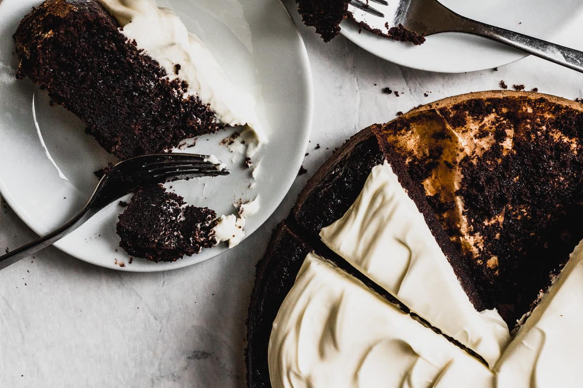 Chocolate Guinness Cake with Cream Cheese Icing