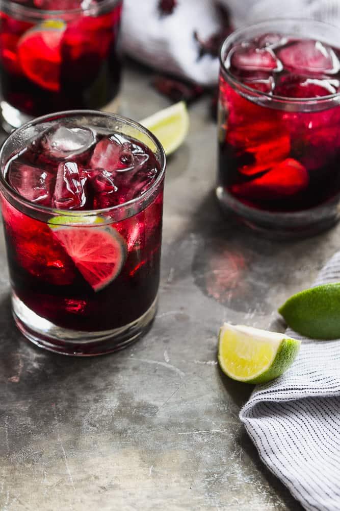 Hibiscus Lime Margaritas