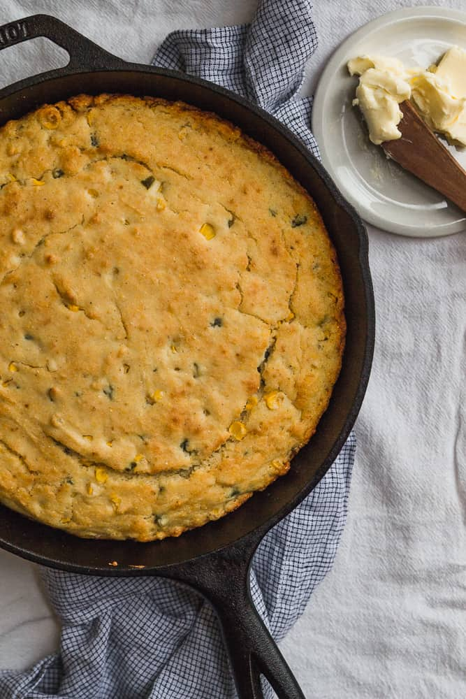 Cornbread in Cast-Iron Skillet