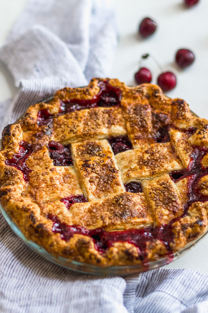 Cherry Pie with Lattice Topping