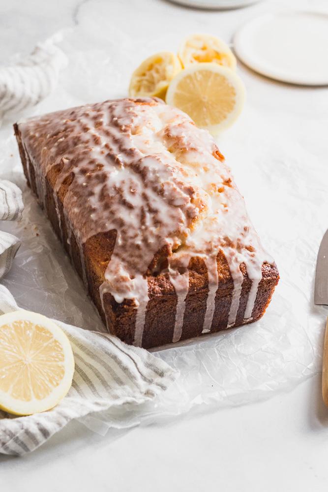 Lemon Drizzle Cake with glaze