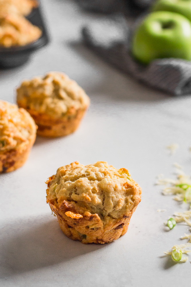 Apple Cheddar Beer Bread Muffins