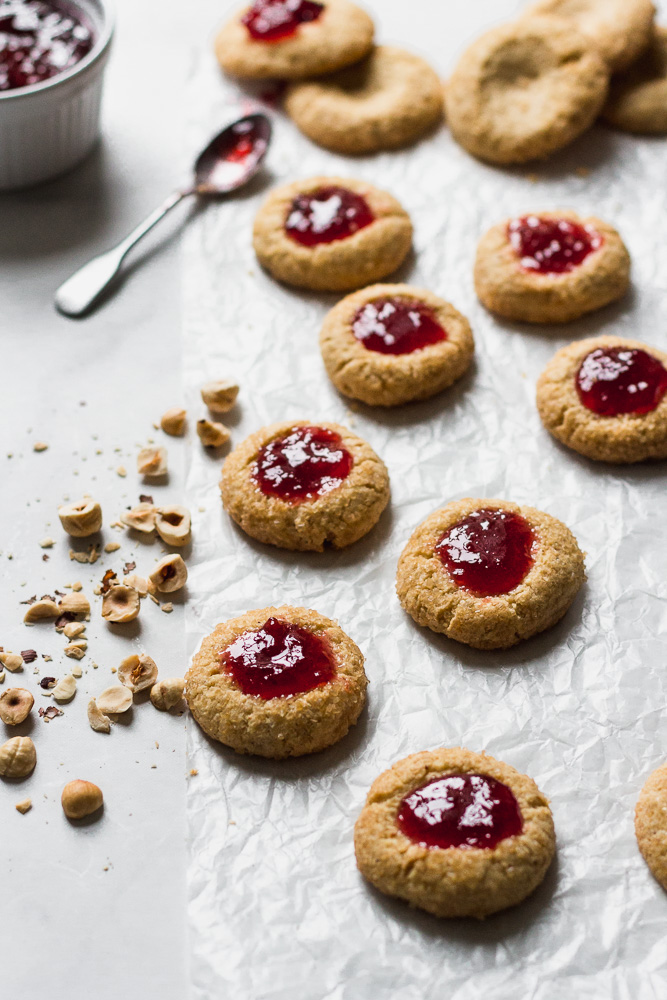 Hazelnut Thumbprints with Spiced Plum Jam